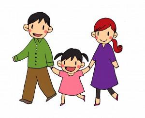 りこちゃんとパパママ散歩(カラー)